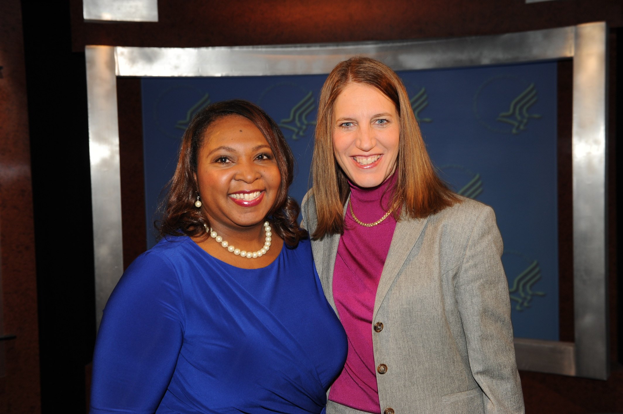 Meredith and DHHS Secretary Sylvia Matthews Burwell